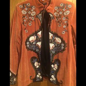 Velvet embroidered blazer from Zara. Like new!